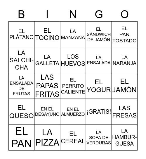 CAPITULO 3A PARTE 1 HASTA LA SOPA DE VERDURAS Bingo Card