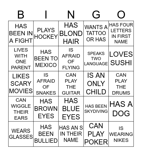 BEUVING BINGO! Bingo Card