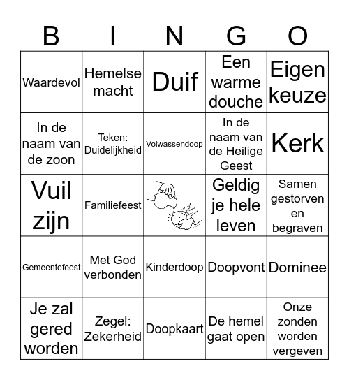 Kringvijfdeklassers Bingo Card