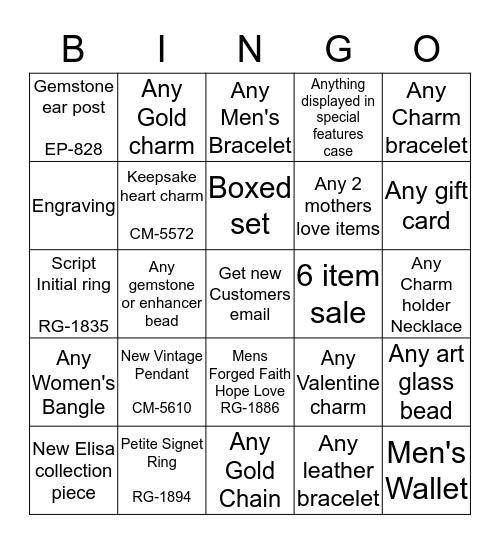 Valentines Bingo Card