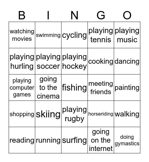Caitheamh Aimsire - Biongó Bingo Card