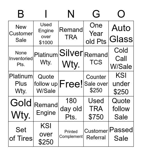 Rhine Bingo Card