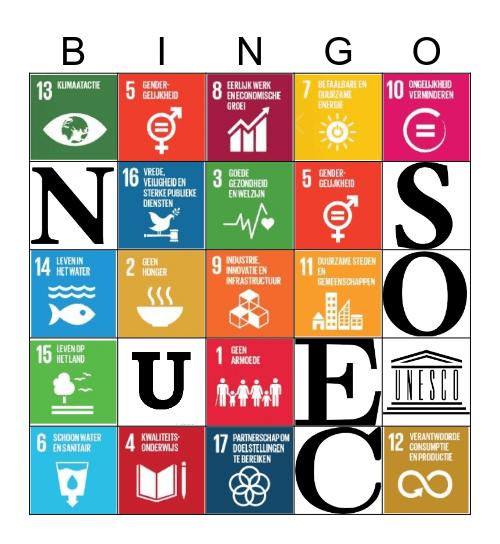 UNESCO Bingo Card