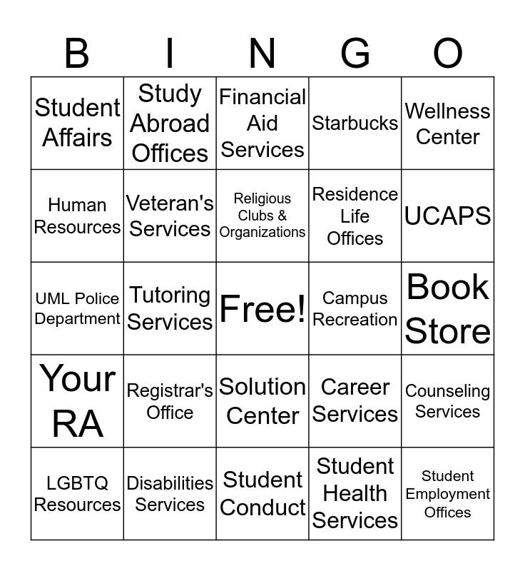 Resource Bingo Card