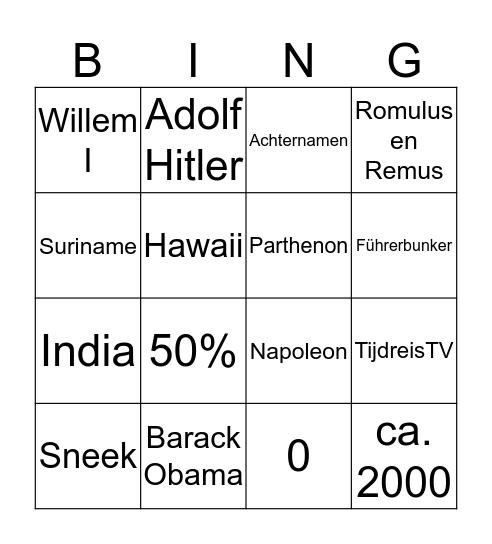 Magister Alvinus Historisch Bingo Card