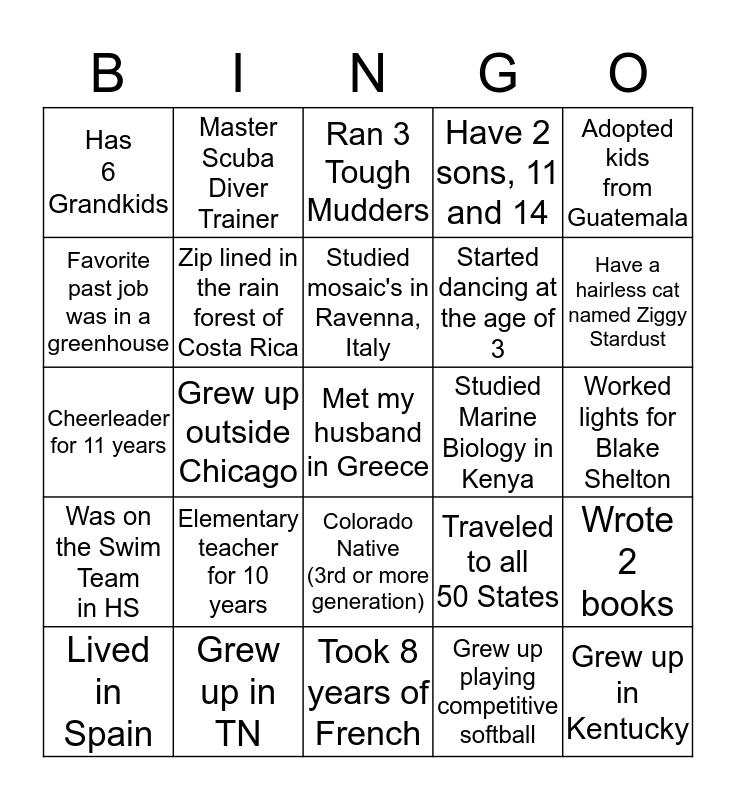 Galentine's Party Bingo Card