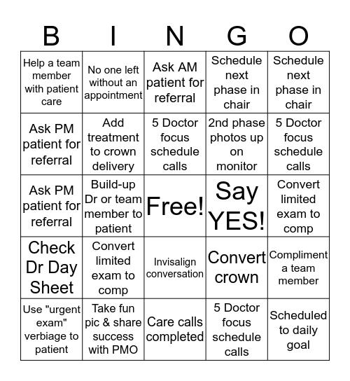 EDDA Bingo Card