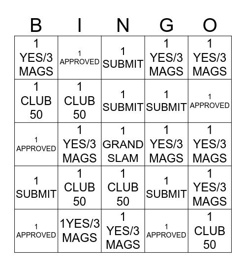 MAGAZINE CONTEST Bingo Card