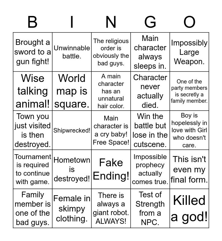 12/18 RPGFan JRPG Bingo Savage Bingo Card