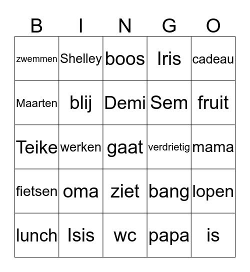 opa Bingo Card