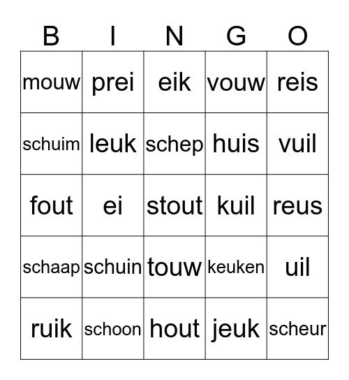 Na het woord schip Bingo Card