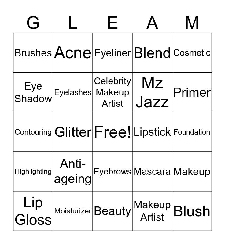 Gleam Session Bingo Card