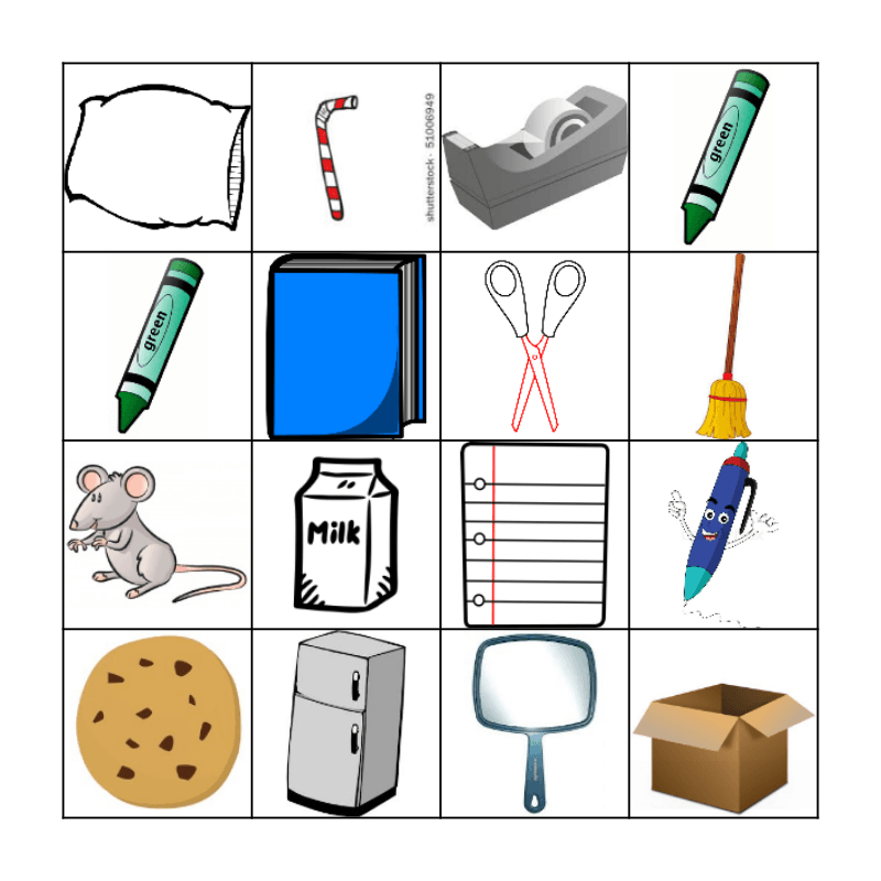 IF YOU GIVE A MOUSE A COOKIE Bingo Card