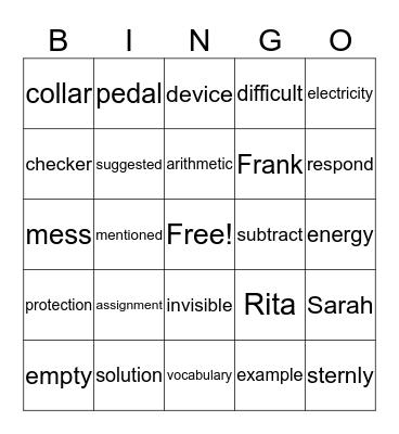 Bingo!! =) Bingo Card