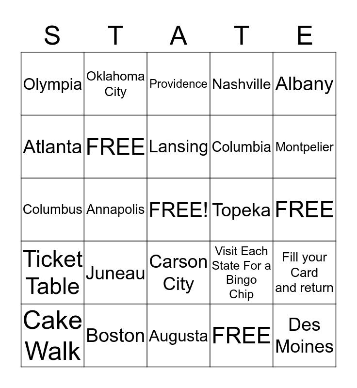 State Bazaar Bingo Card