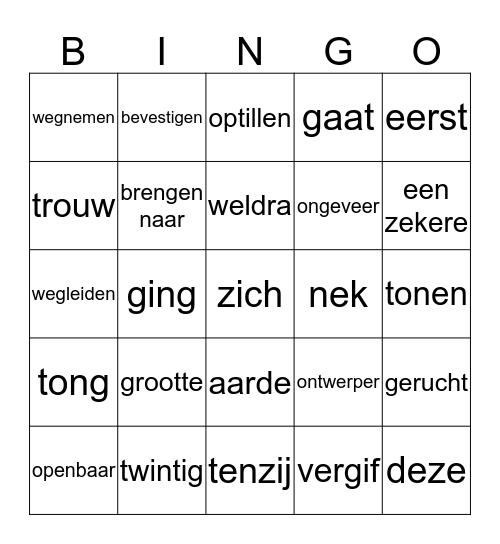 Fortuna 14 Bingo Card
