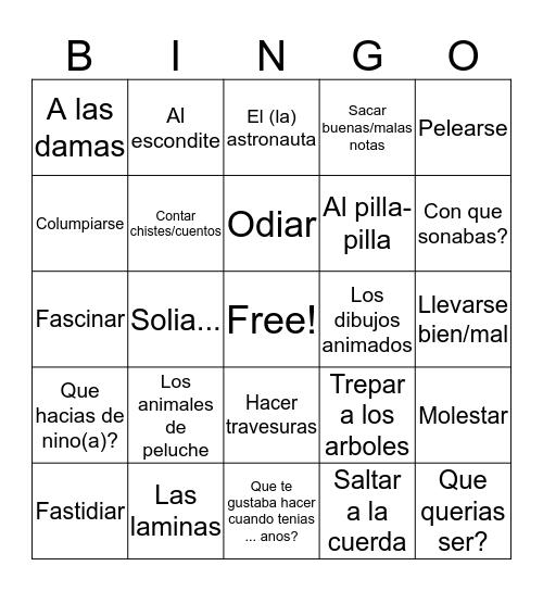 Likes and Dislikes Bingo Card