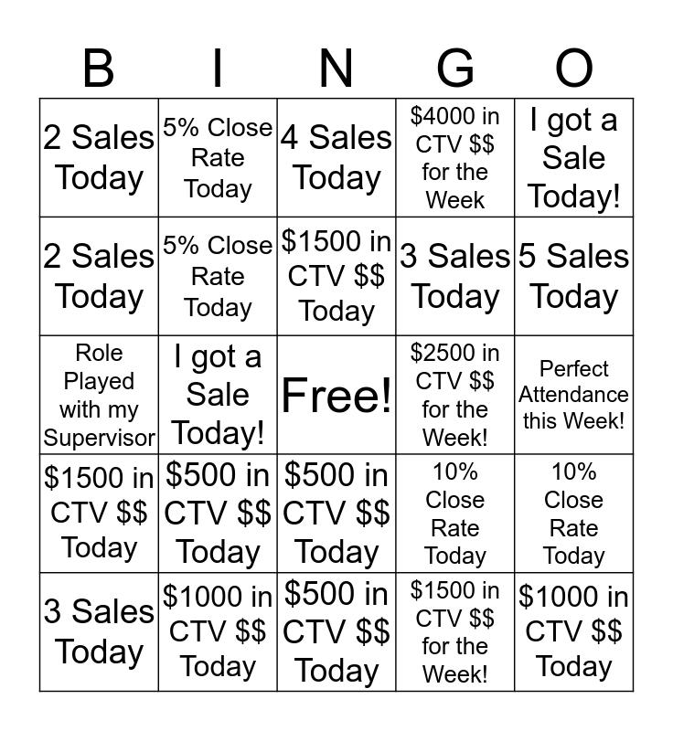 DCC Outbound Bingo! Bingo Card