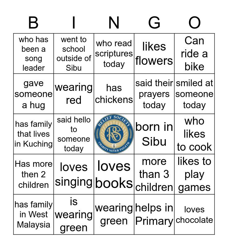Míng gē bīn guǒ Bingo Card