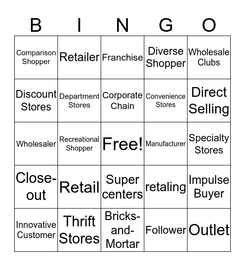 Shelby Vitter Bingo Card
