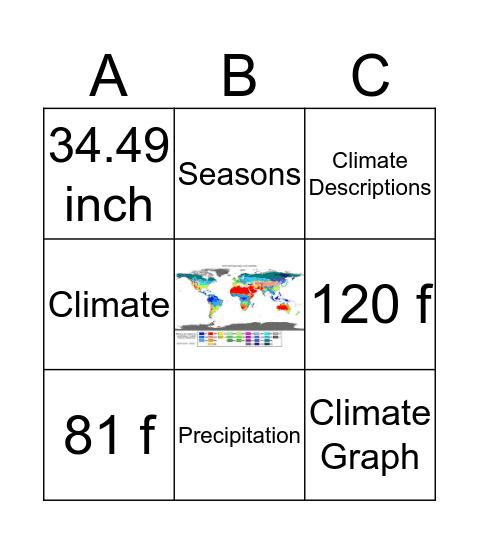 Climate Bingo Card