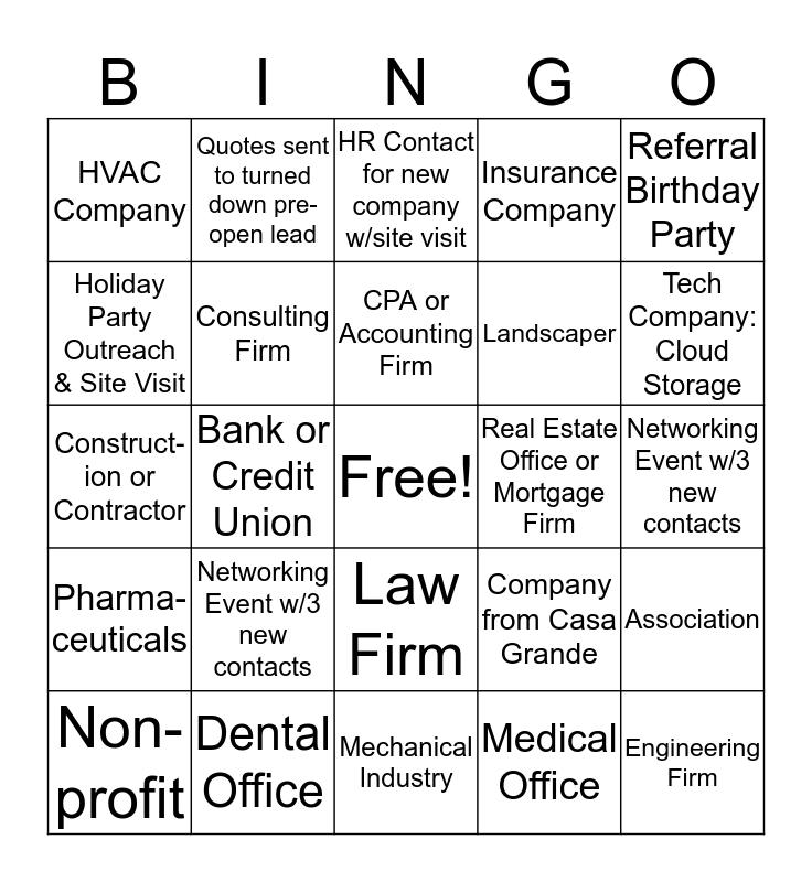 TGDT Outreach Bingo  Bingo Card
