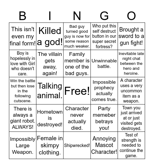 3/3/2018 RPGFan Mensic Bingo Card