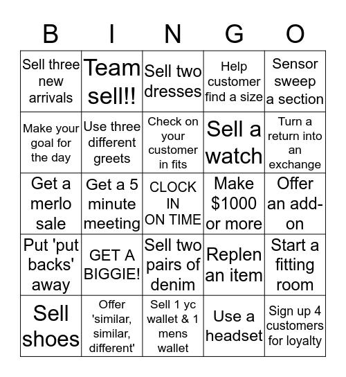 Guess Bingo Card