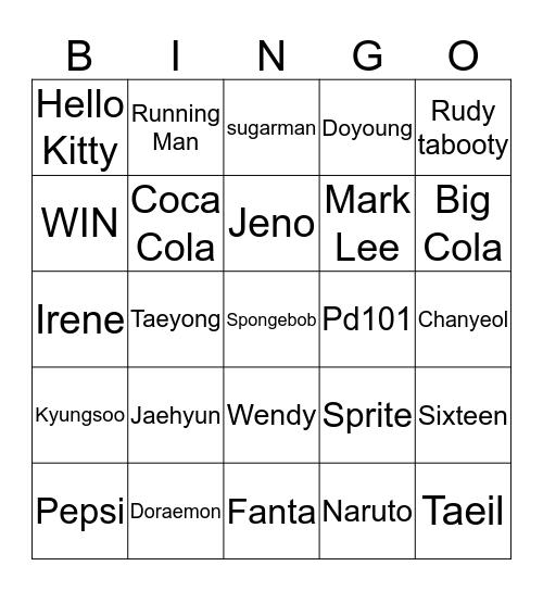 Keara Paveitria Bingo Card