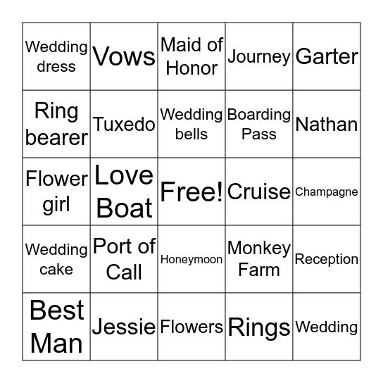 Jessie's Cruise Quest Bingo Card
