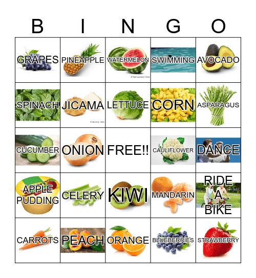 Better your health Bingo Card
