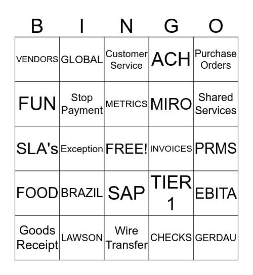 A/P RECOGNITION WEEK Bingo Card