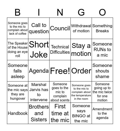 OECTA AGM 2018 Bingo Card