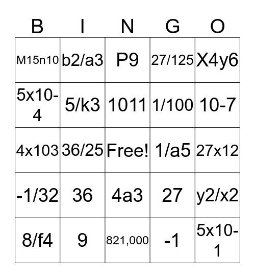 a bingo Card