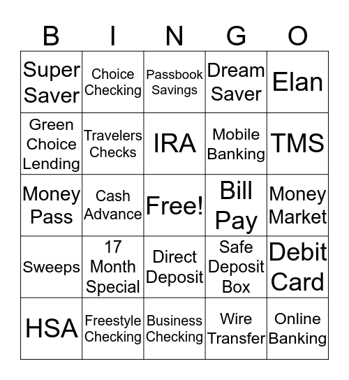 MOT - Product Knowledge Bingo Card