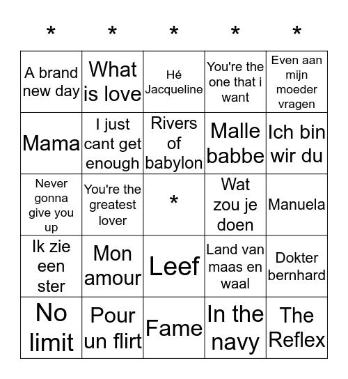 ***SWiNGO!*** Bingo Card