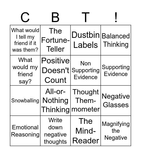Balanced Thinking Bingo Card