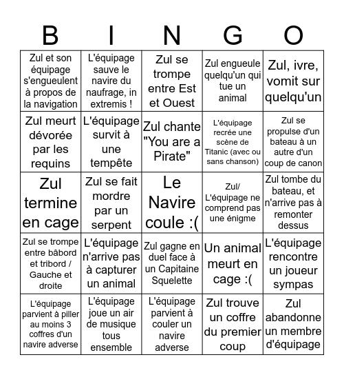 Zul sur Sea of Thieves Bingo Card