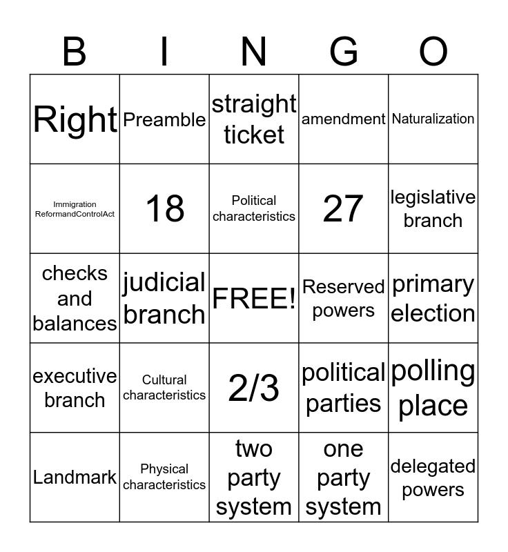 Quarter 1 Review Bingo Card