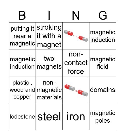 magnetism  Bingo Card