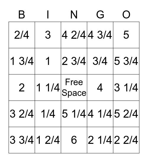 Subtracting Mixed Numbers!  Bingo Card