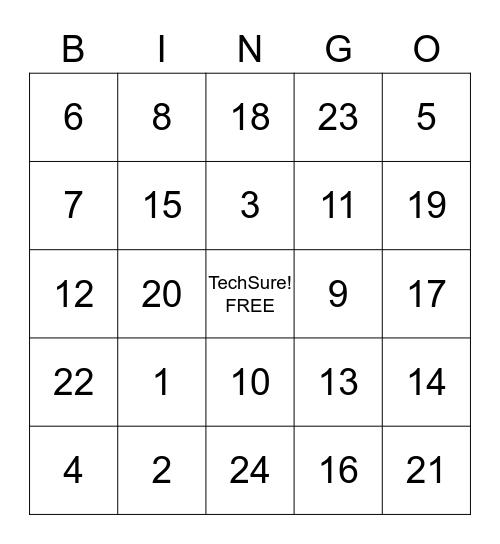 LTS 3/30/18 Bingo Card