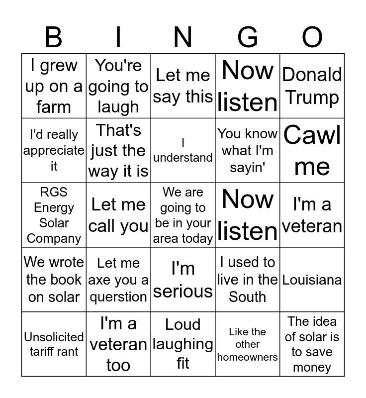 RGS Bingo Card