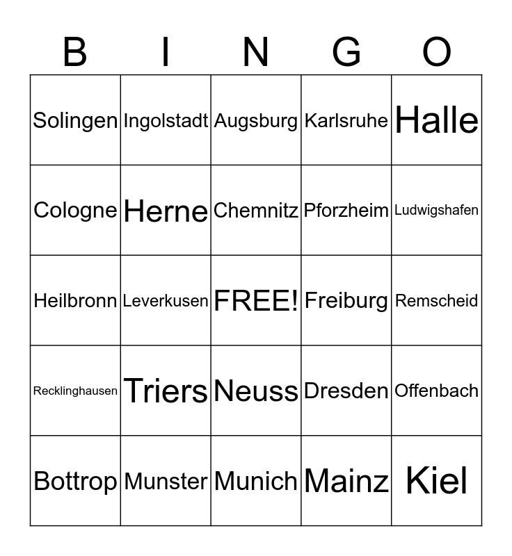OktoberINGO Bingo Card