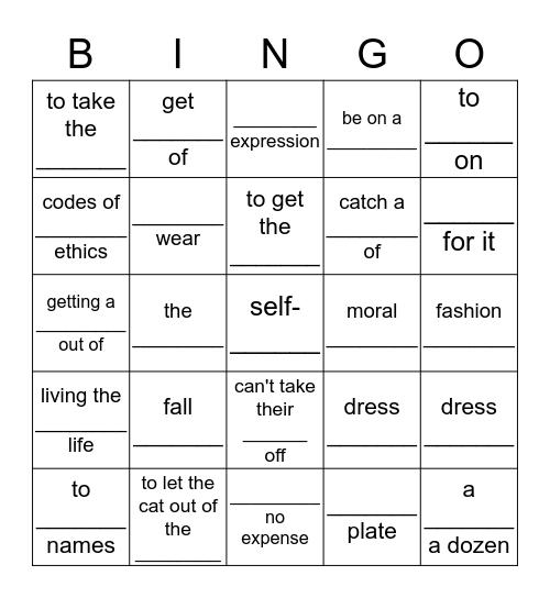 Units 4-5-6-7 Bingo Card