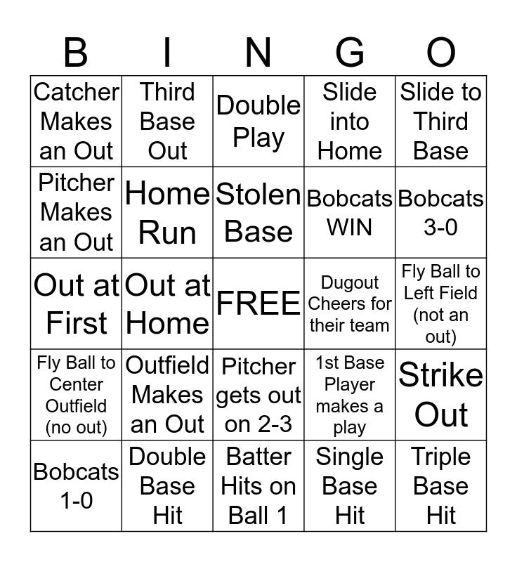 Bobcats Bingo Card