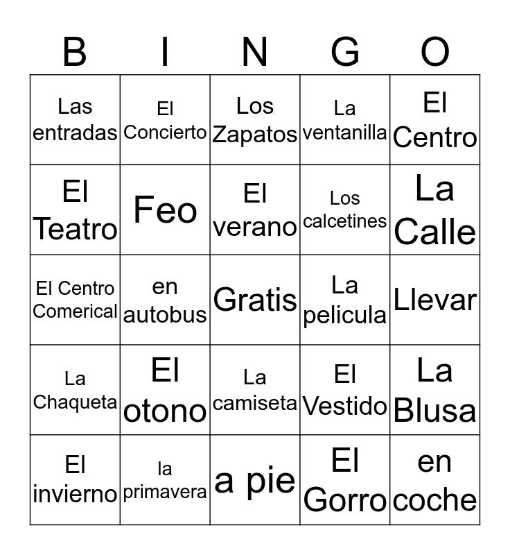 Parte 4 Bingo Card