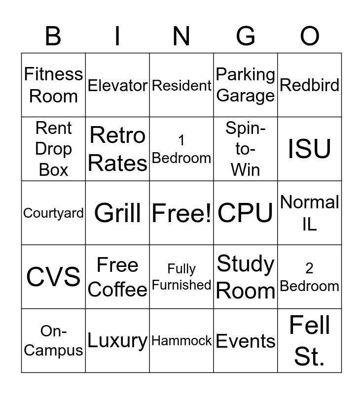 CollegePlace Bingo Card