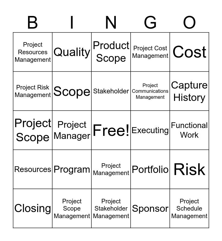 Project Bingo Card