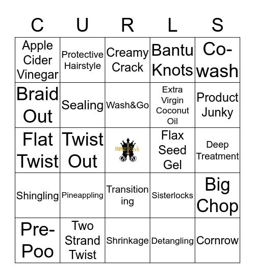 Crowned Curls Bingo Card